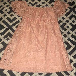 Detailed flounce mini dress
